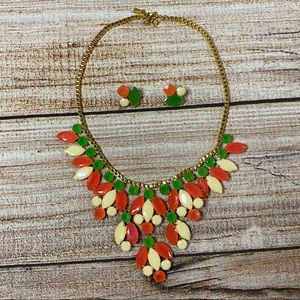 """Kate Spade RARE """"Marquee"""" Bib Necklace/Earrings"""